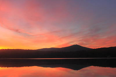 Mount Monadnock Sunrise From Stone Pond Poster by John Burk