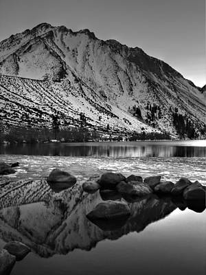 Mount Morrison And Convict Lake Monochrome Poster by Scott McGuire