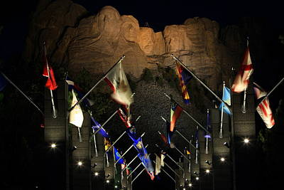 Poster featuring the photograph Mount Rushmore By Night by Paul Svensen