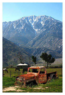 1941 Willys Week End Project Under Mount San Jacinto  Poster by Jack Pumphrey