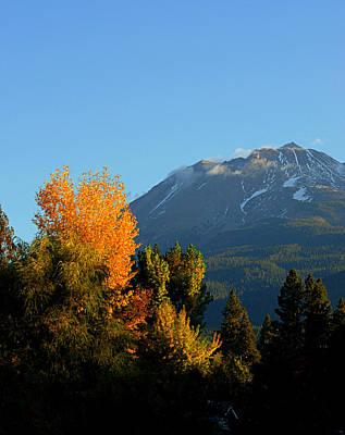 Mount Shasta Fall Poster by Lynn Bawden