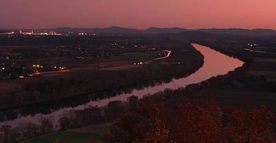 Mount Sugarloaf Twilight Autumn Panorama Poster by John Burk