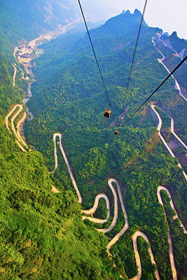 Mount Tianmen Poster by Feng Wei Photography