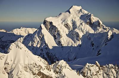 Mount Tutoko At Dawn Hollyford Valley Poster