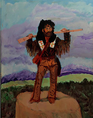 Mountain Man Poster by Swabby Soileau