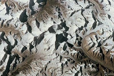 Mountain Range On Earth Viewed From Space Poster by Stockbyte