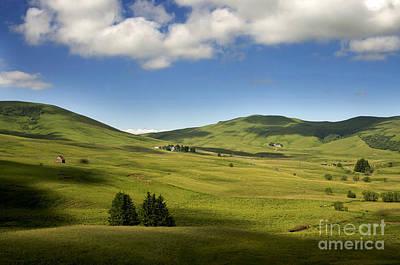 Mountains Of Cezallier. Auvergne. France. Europe Poster by Bernard Jaubert