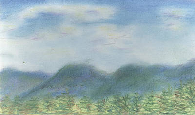 Poster featuring the pastel Mountains Over Lennox by Denny Morreale