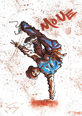 Move B-boy Poster by Tuan HollaBack