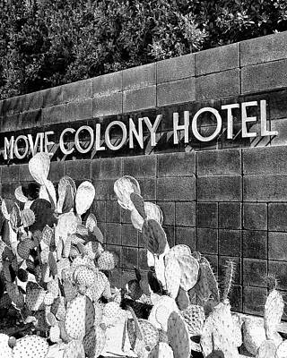 Movie Colony Bw Palm Springs Poster by William Dey