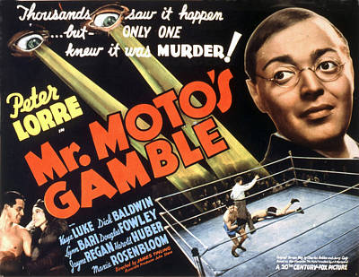 Mr. Motos Gamble, Peter Lorre, 1938 Poster by Everett
