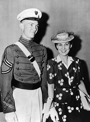 Mrs. Dwight D. Eisenhower Smiles Poster by Everett