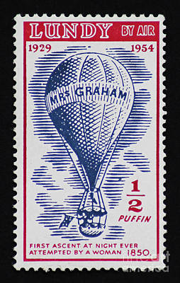 Poster featuring the photograph Mrs Graham The Balloonist by Andy Prendy