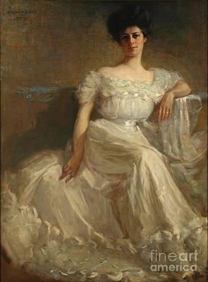 Mrs. Leslie Thayer Green Poster by John Willard Clawson