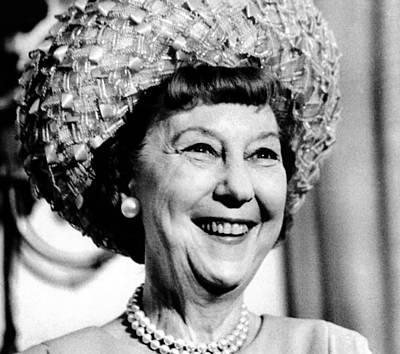 Mrs. Mamie Eisenhower, Widow Poster by Everett