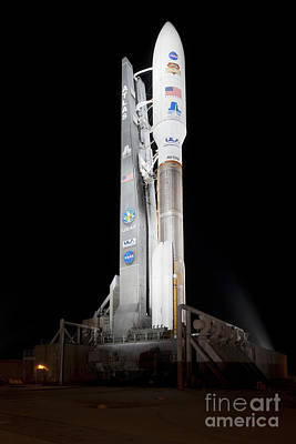Msl Rocket Stands Ready For Launch Poster by NASA/Scott Andrews/Canon