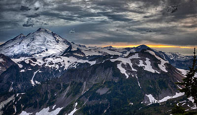 Poster featuring the photograph Mt Baker by A A