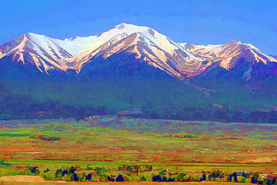 Poster featuring the digital art Mt. Princeton Morning by Brian Davis