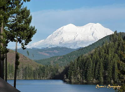 Mt. Rainier From Mineral Lake Poster by Sadie Reneau