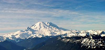 Mt Rainier Panoram Poster