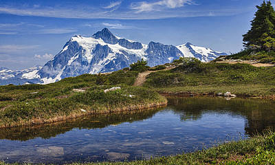 Poster featuring the photograph Mt Shuksan by A A