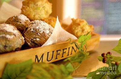Muffins Fresh And Warm Poster by Bruce Stanfield