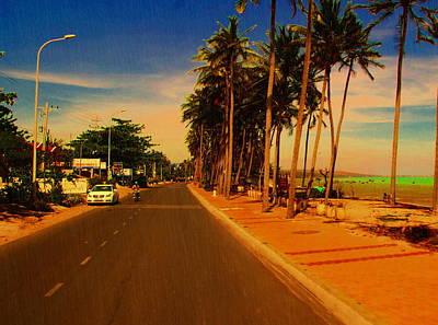 Poster featuring the photograph Muine Road by Arik S Mintorogo