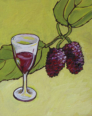 Mulberry Wine  Poster by Sandy Tracey