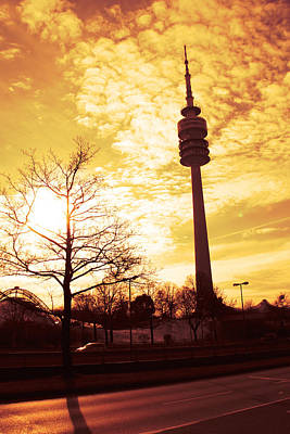 Munich Television Tower Poster by Falko Follert