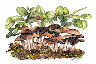 Poster featuring the painting Mushroom Forest by Terry Taylor
