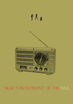 Music Of Soul Poster Poster by Naxart Studio
