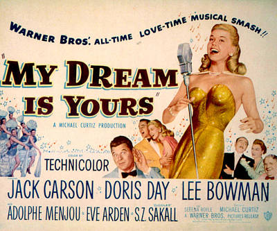 My Dream Is Yours, Doris Day, Jack Poster by Everett