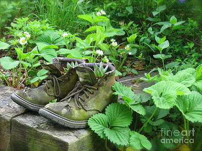 Poster featuring the photograph My Favorite Boots by Nancy Patterson