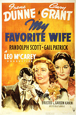My Favorite Wife, Cary Grant, Irene Poster