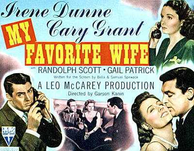 My Favorite Wife, Cary Grant, Randolph Poster by Everett