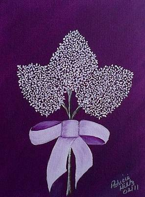 Poster featuring the painting My Lilas by Patricia Hiltz