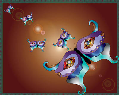 My Magical Butterfly Poster by Teri Schuster
