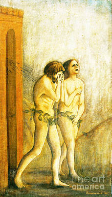 My Masaccio Expulsion Of Adam And Eve Poster by Jerome Stumphauzer