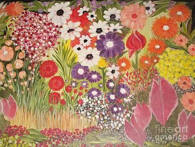 My Mother's Garden Poster by Rachel Carmichael