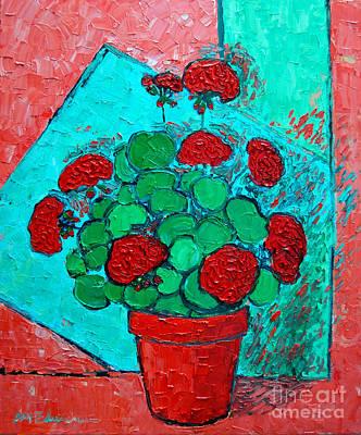 My Red Geranium Poster