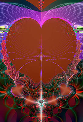 Poster featuring the digital art My Valentine by Ester  Rogers