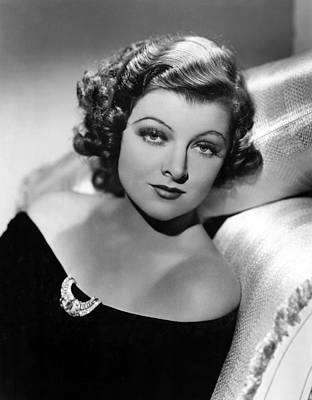 Myrna Loy By Clarence Sinclair Bull Poster