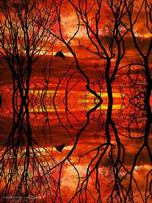 Mystical Blaze Poster by Lourry Legarde