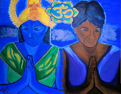 Poster featuring the painting Namaste-we Are One by Lisa Brandel