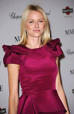 Naomi Watts Wearing A Marchesa Dress Poster
