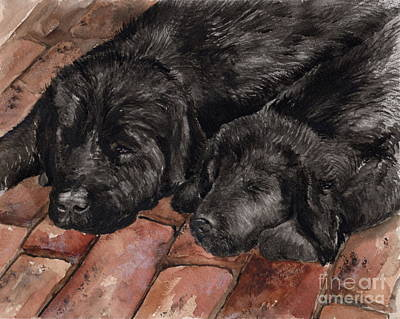 Poster featuring the painting Nap Time by Nancy Patterson