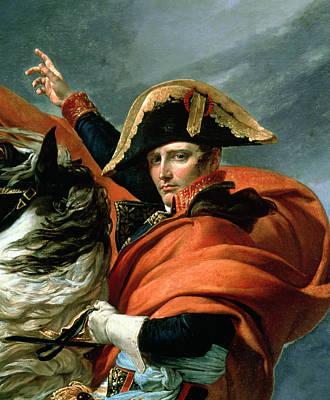 Napoleon Crossing The Alps On 20th May 1800 Poster by Jacques Louis David