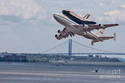 Nasa Enterprise Space Shuttle Poster by Susan Candelario