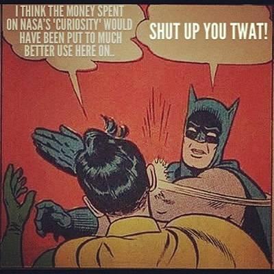 #nasa #mars #curiosity #batman Poster