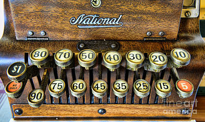 National Cash Register In Wood Poster by Paul Ward